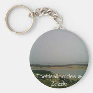 Reid State Park - Sand Bar Basic Round Button Key Ring