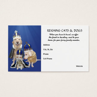 Reigning Cats & Dogs Business Card