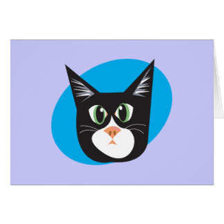 Reigning Cats & Dogs_Furry Faces_Cleo Greeting Card