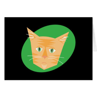 Reigning Cats & Dogs_Furry Faces_Peaches Greeting Card