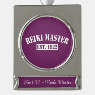 Reiki Designs Silver Plated Banner Ornament