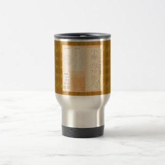 REIKI Healing Gold : Symbols Signs CRYSTAL Gold Travel Mug