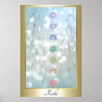 Reiki Healing Hands design Poster