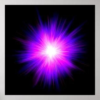 Reiki healing healer flame energy chakra energy poster