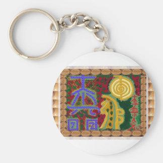 Reiki Healing Symbols by Navin Joshi Artist Canada Key Ring