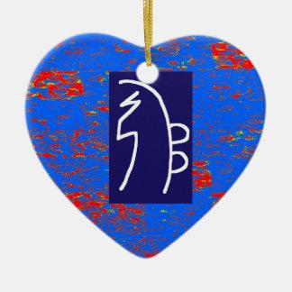 REIKI Healing Symbols  TEMPLATE Health Wellbeing Ceramic Heart Decoration