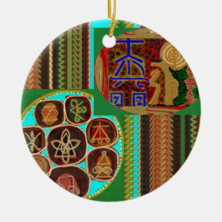 REIKI Karuna Healing Symbols Vintage CARE GIFTS 99 Round Ceramic Decoration