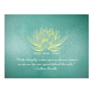 Reiki Master and Yoga Mediation Instructor Quotes Postcard