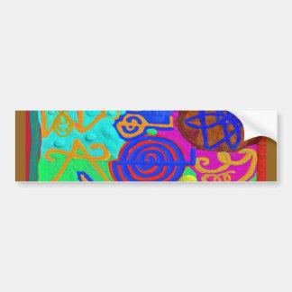 REIKI n Karuna Healing Signs Bumper Sticker