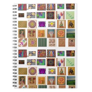 reiki,ommantra,buddha,ganesh,chokurei,chakra,krish note books
