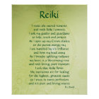 'Reiki' poem art poster