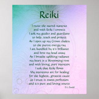 'Reiki' poem art poster