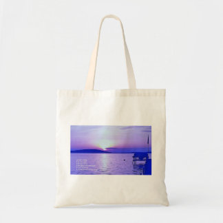 Reiki Principles Purple Sunrise Tote