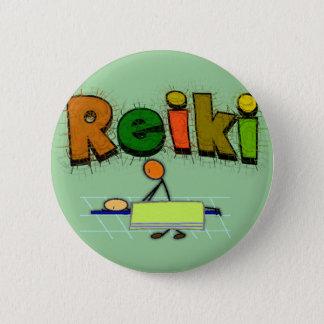 Reiki Stick People Design Gifts 6 Cm Round Badge