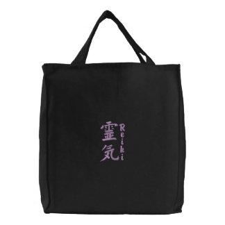 Reiki Symbol Larger Embroidered Tote Bag