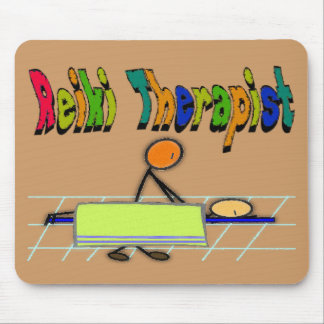 Reiki Therapist--Stick People Design--Watercolor Mouse Pad