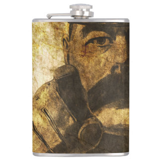 Reimagined Lord Kitchener Wants You Poster Hip Flask