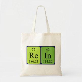 Rein periodic table name tote bag