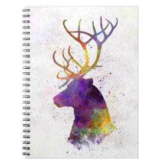 Reindeer 01 in watercolor spiral notebook