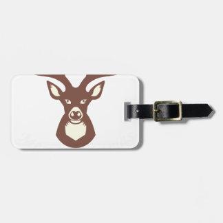 reindeer 13 luggage tag