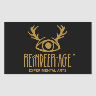 Reindeer Age Experimental Arts Logo Stickers