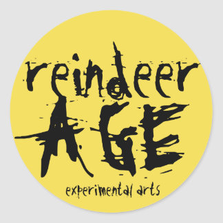 Reindeer Age Experimental Arts Sticker