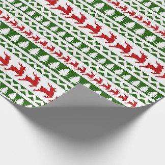 Reindeer and Christmas Tree Wrapping Paper