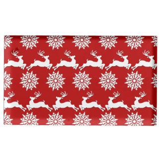 Reindeer and Snowflake Christmas Table Card Holder