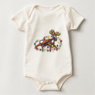 Reindeer and Stars Baby Bodysuit