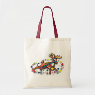 Reindeer And Stars Canvas Bag