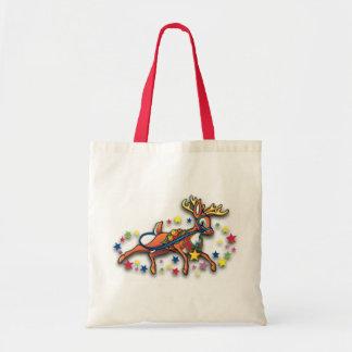 Reindeer And Stars Budget Tote Bag