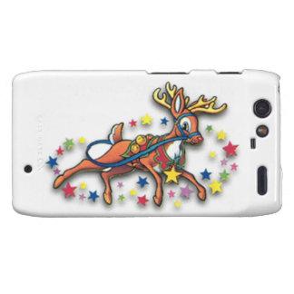 Reindeer And Stars Motorola Droid RAZR Cover