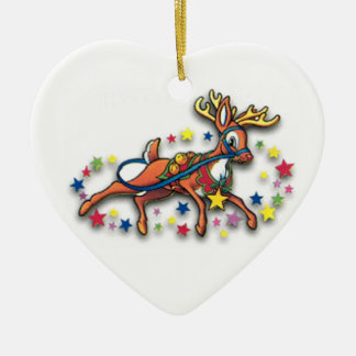 Reindeer And Stars Ornament