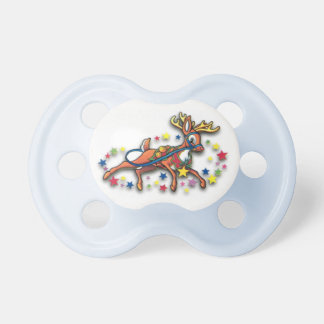 Reindeer And Stars Baby Pacifiers