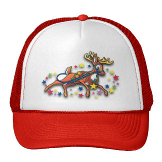 Reindeer and Stars Hat
