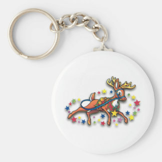 Reindeer And Stars Keychains