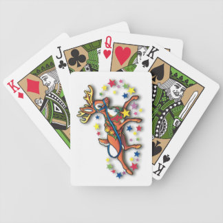 Reindeer And Stars Bicycle Poker Cards