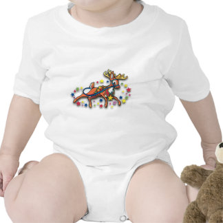 Reindeer and Stars Baby Bodysuits