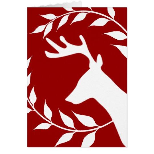 Reindeer and Wreath Card
