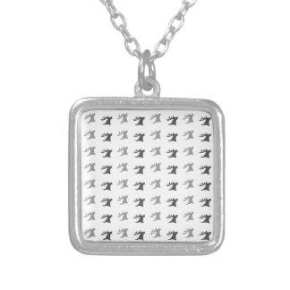 Reindeer Antler Pattern Silver Plated Necklace