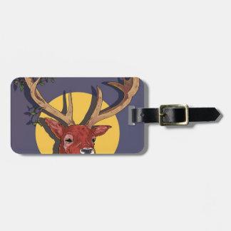 Reindeer Antlers Christmas Luggage Tag