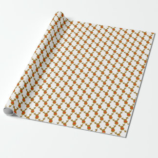Reindeer Argyle White Wrapping Paper