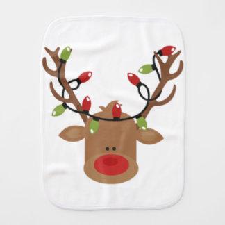 Reindeer Baby Christmas gift Burp Cloth