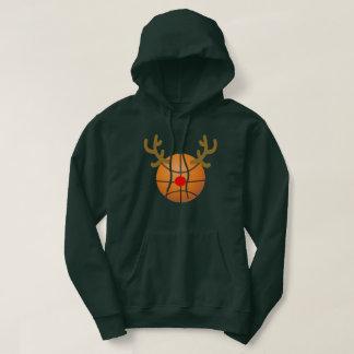reindeer basketball T-Shirt Funny Christmas Gift