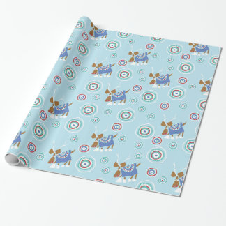 Reindeer Blues Wrapping Paper
