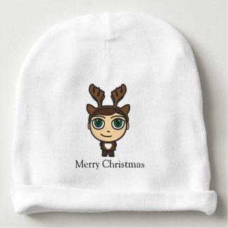 Reindeer Boy Cartoon Character Baby Beanie Hat
