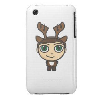 Reindeer Boy Cartoon Character  iPhone 3G/3GS Cas iPhone 3 Case-Mate Case