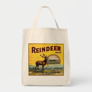 REINDEER BRAND GROCERY TOTE BAG