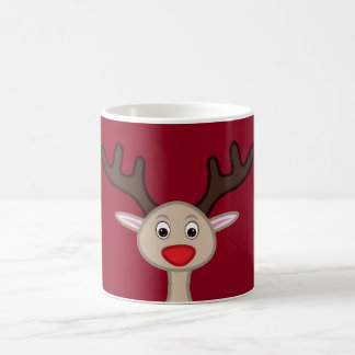 Reindeer cartoon character coffee mug