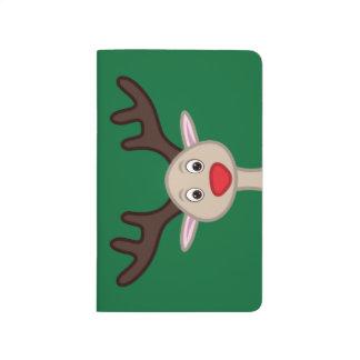 Reindeer cartoon character journals